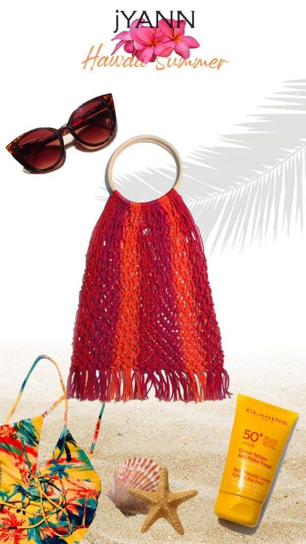 jYANN plumeria beach bag